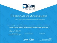 百度飞桨携手Linux Foundation开源软件大学推出国内首个深度学习联合认证!